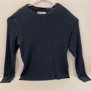 Lucky Brand XL Navy Blue Waffle Knit Thermal Shirt